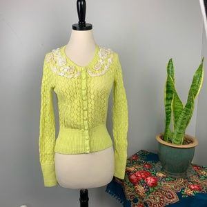 Anthropologie Valence knit Cardigan by Yellow Bird
